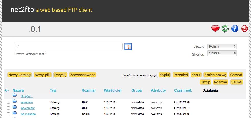 Katalog główny FTP