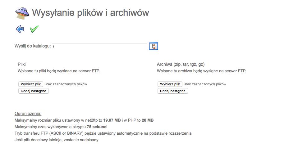Wysyłanie plików na serwer