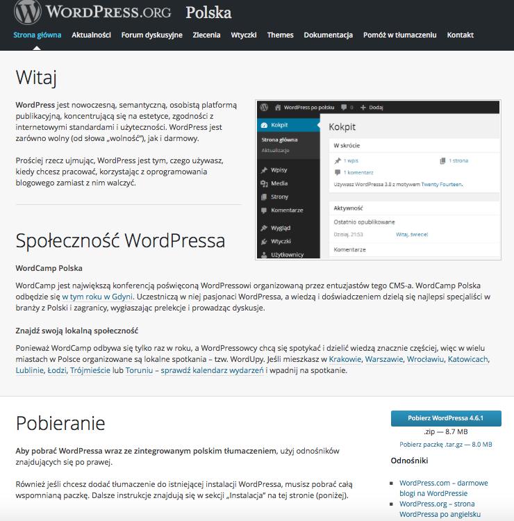 Program instalacyjny bloga